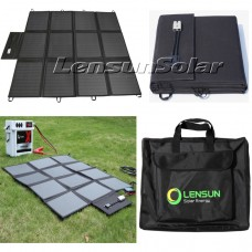 Lensun 200W Solar Blanket Kit with Waterproof MPPT Controller and  5m Cable, Ready to Charge 12V Battery and Solar Generator