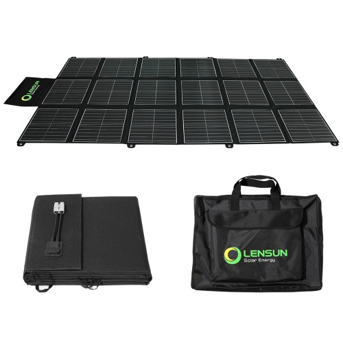 Lensun 360W 12V Portable Solar Blanket Panel Kit with 30A MPPT Solar Controller perfect for keeping your 12V dual battery system charged