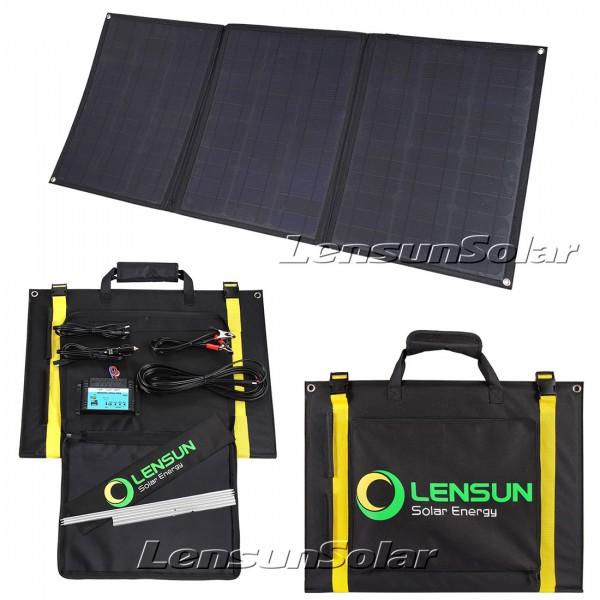 Lensun 100w 12v Flexible Folding Solar Panel Kit For Rv