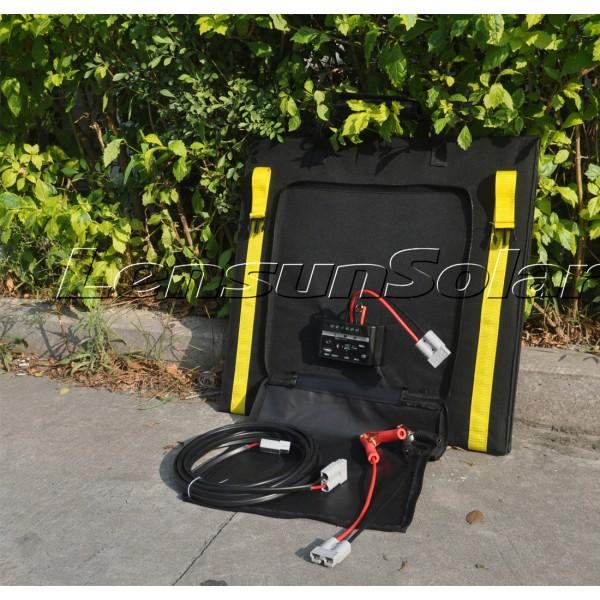 Lensun 160w 4 X 40w 12v Flexible Folding Solar Panel