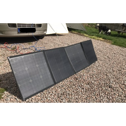 Lensun 160W (4 x 40W) 12V ETFE Flexible Folding Solar Panel Kit for RV, Caravan Camping, Lightweight only 5.6kgs/ 12 lbs,with 20A Solar controller, ready to charge battery!