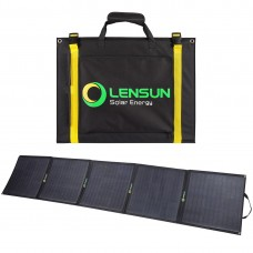 Lensun 200W ( 5 x 40W) 12V ETFE Flexible Folding Solar Panel with MC4 Connector, only 8kgs/ 17.6 lbs, for outdoor Camping,RVs, Boats, Solar Generators