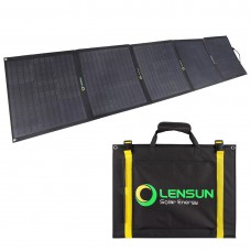 Lensun 200W ( 5 x 40W) 12V ETFE Black Flexible Folding Solar Panel Kit with Brackets, 20A Solar Controller ready to charge, perfect for RVs, Campers,Motorhomes outdoor camping