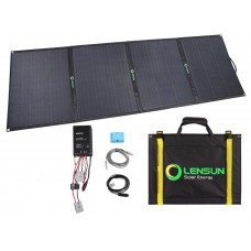 Lensun Super Quality 200W 12V ETFE Folding Solar Panel Kit with 15A MPPT Solar Controller and 5m cables for RV/Camper Boat Battery