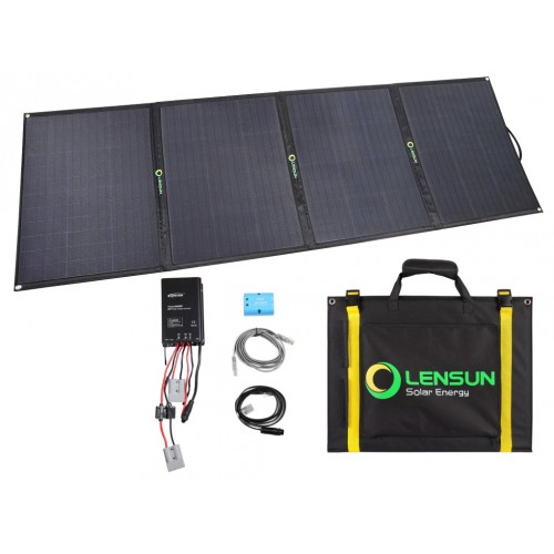 Lensun 200W 12V ETFE Folding Solar Panel Kit with Waterproof MPPT Solar Controller, 5m cables  for RV/Camper Boat