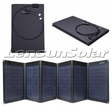 Best Quality Folding Solar Panel, Lensun 100W ETFE Laminated Technology Foldable Solar Panel,Completely Waterproof and Thinnest