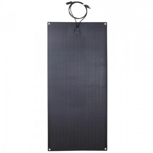 Lensun®  Only $179 100W 12V ETFE Black Flexible Solar Panel, Use New Hightest Efficiency Mono PERC 6'' Solar Cells