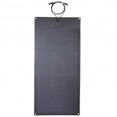 Lensun® 100W 12V ETFE Black Flexible Solar Panel with Rubber Strip to Protect the Edge, With Eyelets