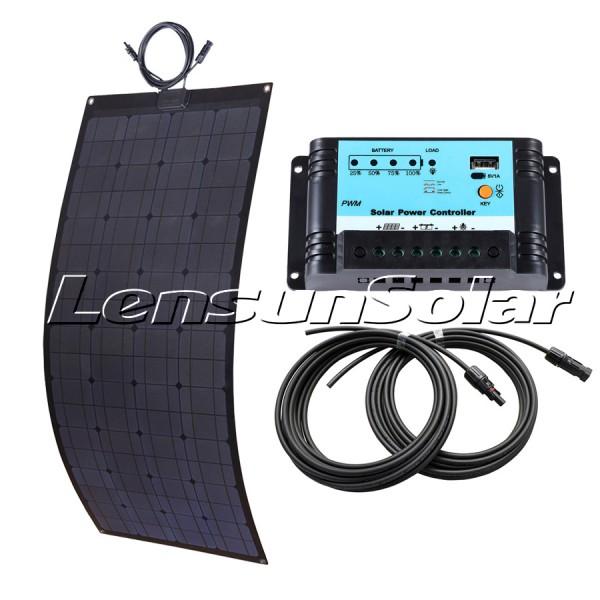 Solar Panel Set 100w 5m Kabel Mppt Regler Halter Sika Dachdurchführung Making Things Convenient For Customers