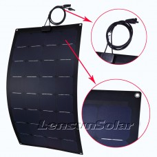 Lensun® 110W 12V Sunpower Black ETFE Flexible Solar Panel, Top Quality NOT the Cheap PET Flexible Solar Panel