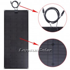 Lensun® 100W 12V ETFE Black Flexible Solar Panel, Super Quality NOT Cheap White PET Solar Panel