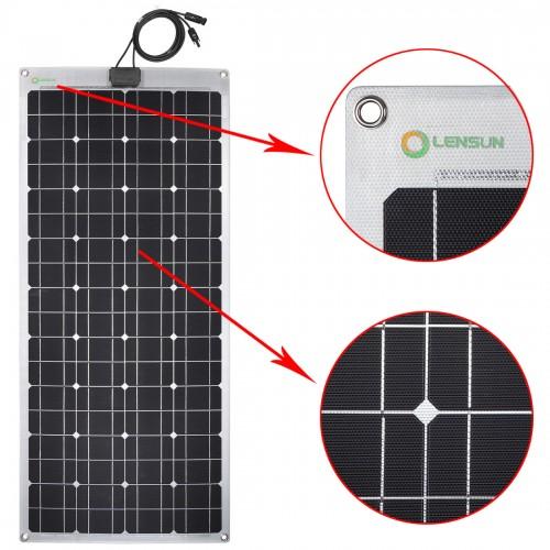 Super ETFE Quality 100W 12V Flexible Solar Panel with Aluminium Back Sheet , Not Cheap PET Solar Panel