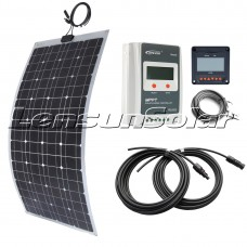 100W 12V Flexible Solar Panel Kit with 10A MPPT Controller, LCD Remote, Cables perfect for Camper,RV,Boat..etc