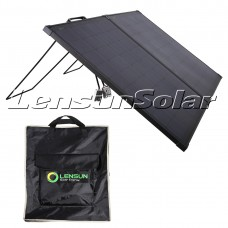 Lensun Innovative 12V 100W Super Lightweight Thin Portable Folding ETFE Solar Panel, Perfect for Camping Life as a Solar Companion