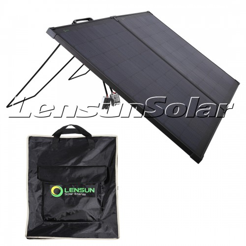 Lensun Innovative 12V 100W Super Lightweight Thin Portable Folding ETFE Solar Panel, Perfect for Camping Life as a Solar Companion