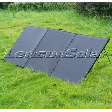 Lensun Innovative 12V 150W Super Lightweight Thin Portable Folding ETFE Solar Panel, Perfect for Camping Life as a Solar Companion