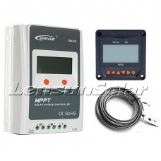 20A 12V/24V MPPT Solar Panel Regulator Charge Controller with MT50 LCD Display Remote