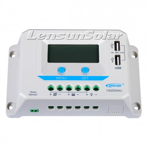 Lensun® 20A Solar Panel Regulator Charge Controller, LCD Display, 12/24V Auto Switch