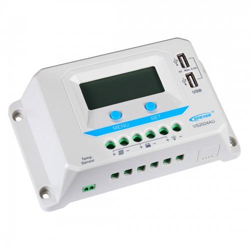 Lensun® 30A 12V/24V Solar Panel Regulator Charge Controller, LCD Display