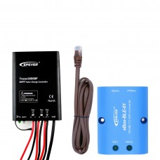 Waterproof 10A MPPT Solar Controller with eBox Bluetooth Adapter, for  Lithium battery(LiPO4) and Lead-acid battery Tracer 2606BP
