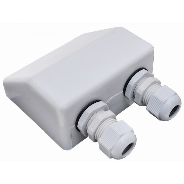 Waterproof Double Cable Holes Entry Gland Cable Box For