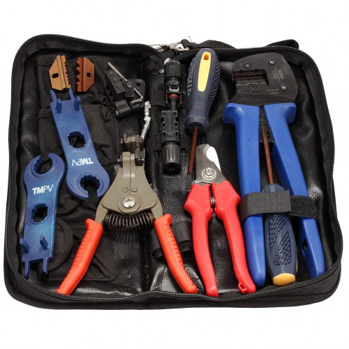MC3 MC4 Solar Crimping Tools, Solar PV Tool Kits, Include Crimper Stripper Cutter Spanners