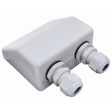 Waterproof Double Cable Holes Entry Gland,Cable Box for Solar Panels/Caravans/Boats