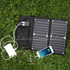 Lensun 14w 6v Portable Outdoor Solar Panel Usb Charger For Cell Phone Ipad