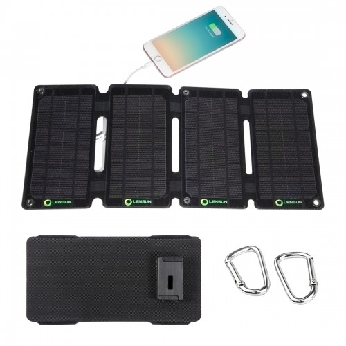 Early Bird Discount! Lensun Waterproof ETFE 10W 5V Solar Panel Charger, USB Port for Cell Phone,Battery backup... All USB devices