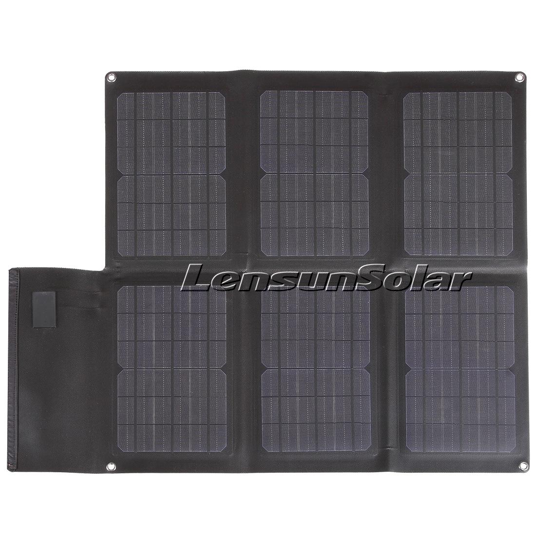 Lensun 40w 12v Folding Flexible Solar Charger For Mobile